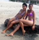 Mail Order Brides Cindy and Jeymi - at beach